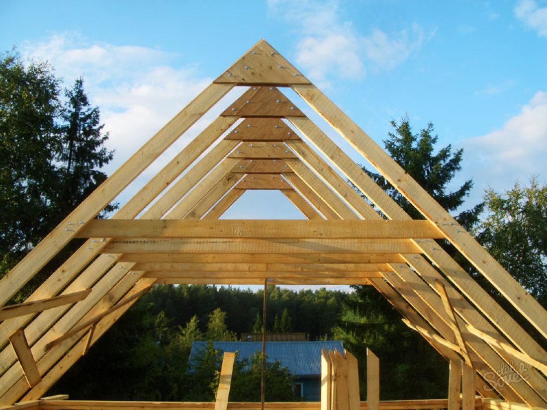Возведение двускатной крыши